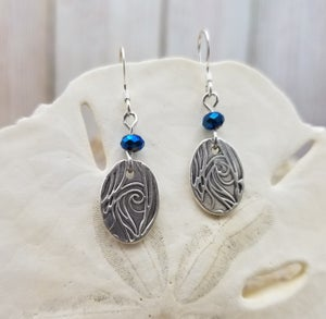 Image of Handmade- Recycled Fine Silver- Earrings- #335