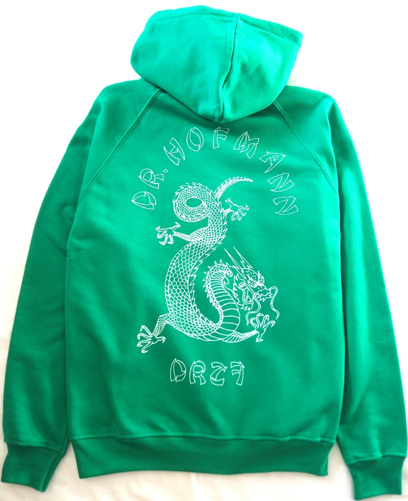 "Image of ""DRAGON""- Hoodie/zipper  - Kelly Green"