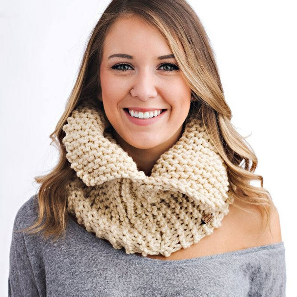 Image of Open Collar Cowl Knitting Pattern PDF Download