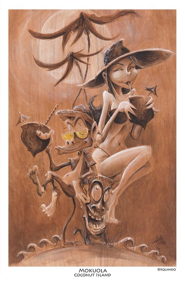 Image of Coconut Island Art Print