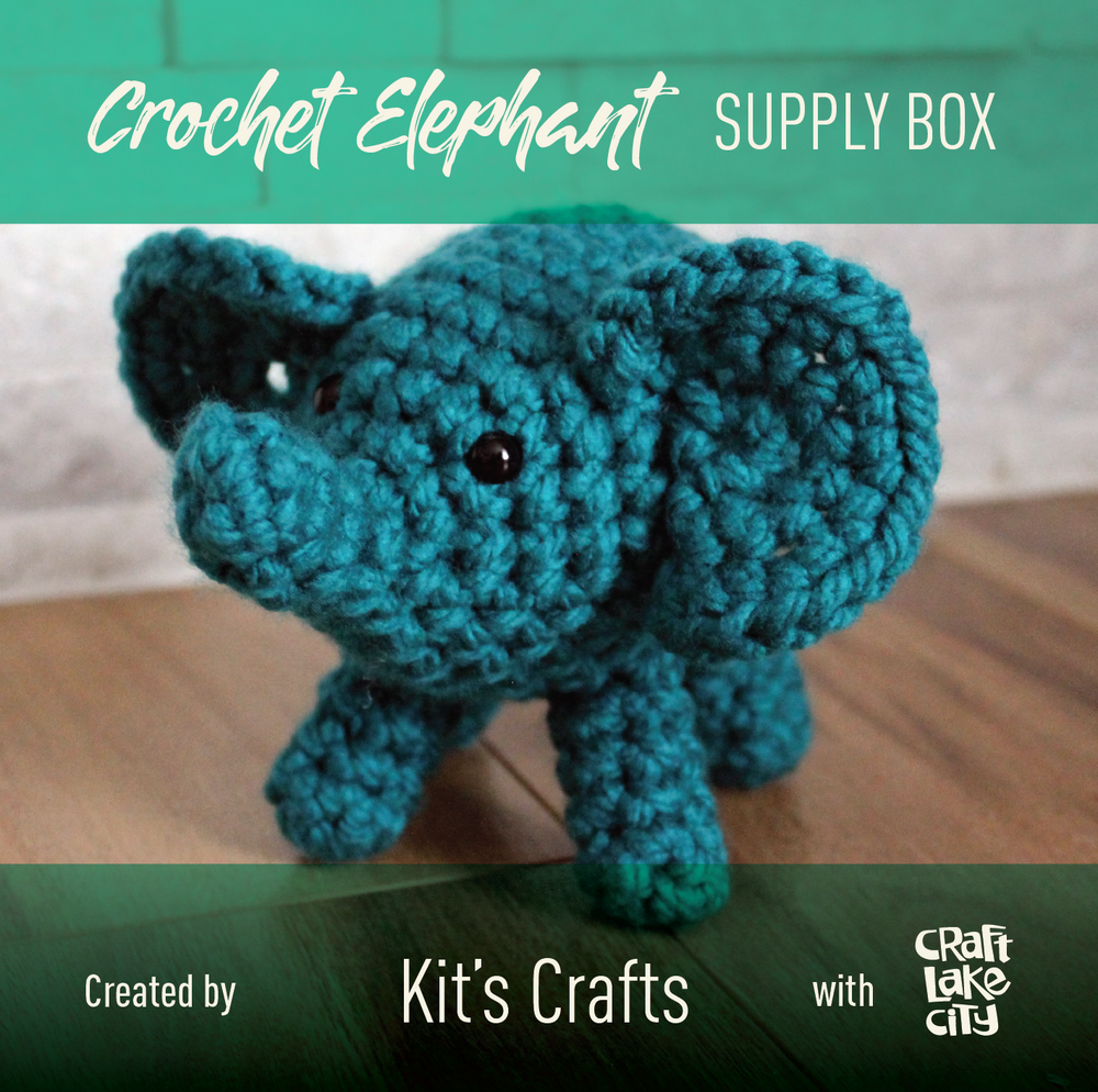 Image of Workshop Supply Box: Crochet Elephant