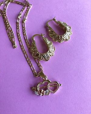 Double Corazón  Necklace