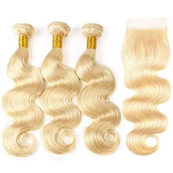 Image of 613 bundles and lace closure