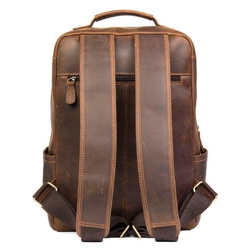 Image of  Handmade Crazy Horse Leather Backpack Laptop Backpack Travel Backpack MSG7635