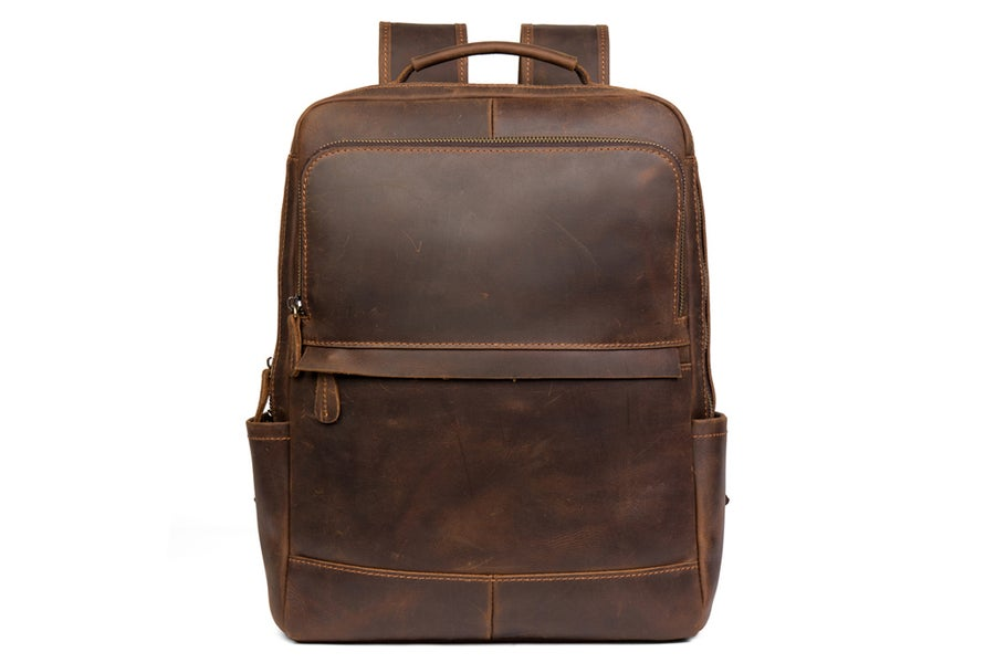Image of  Handmade Crazy Horse Leather Backpack Laptop Backpack Travel Backpack MSG7635