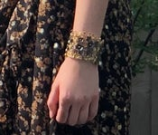 Image of Two tone flower cuff