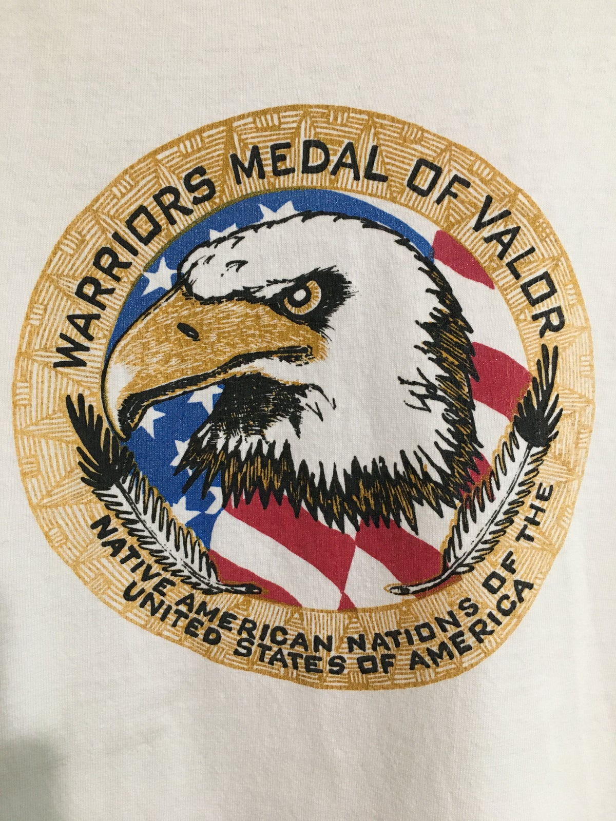 Early 2000's Warriors Medal Of Valor Tee