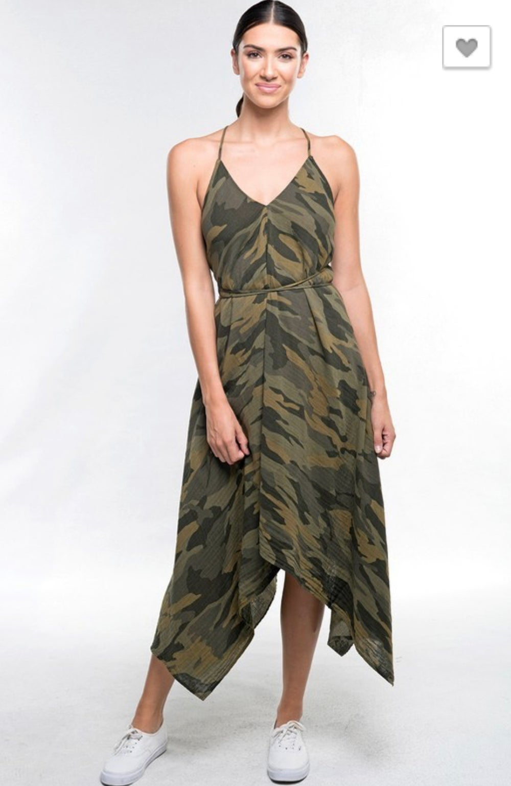 Image of CAMOUFLAGE HALTER DRESS