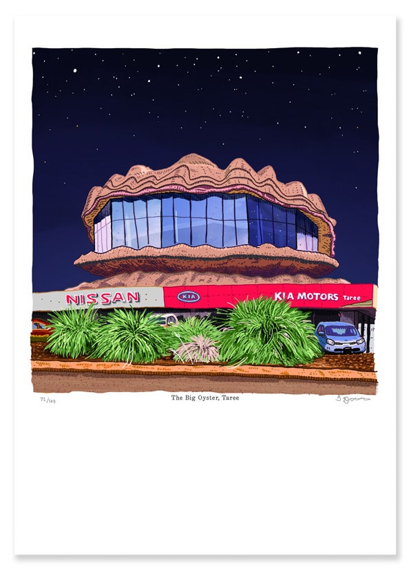 Image of Digital Print of The Big Oyster, Taree
