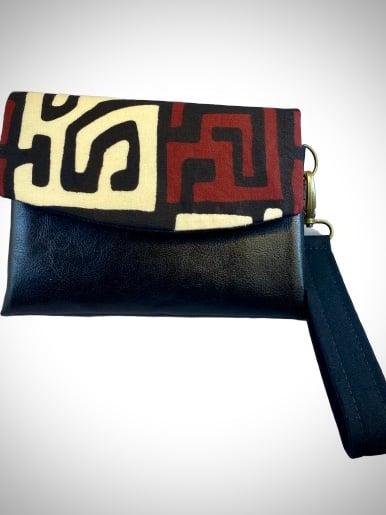 Image of Designs By IvoryB Kimiya Wallet-Kuba Cloth Ankara Print