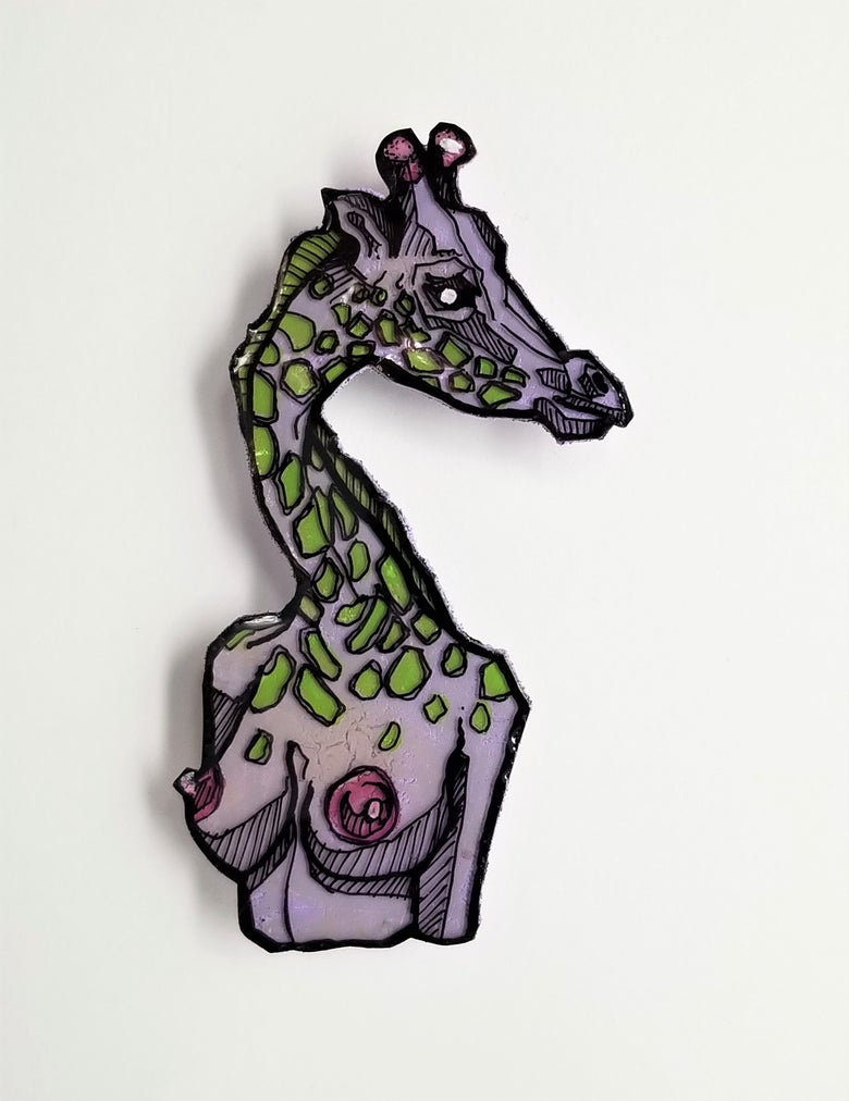 Image of Purple Giraffe Pin