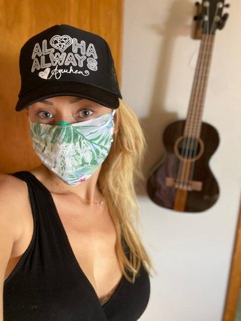 Image of Aloha Always Tropical Face Masks - Blue