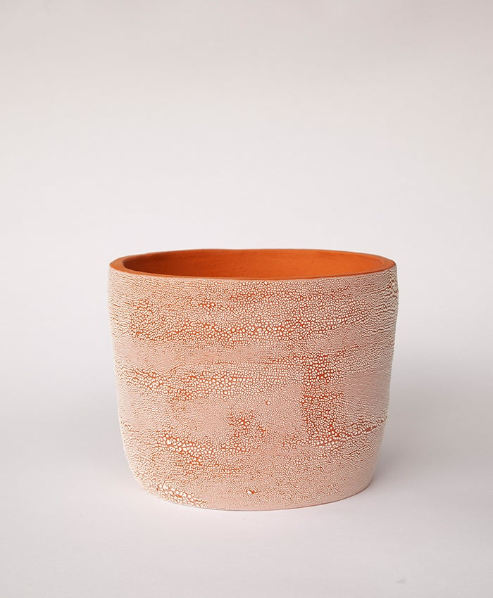 Image of Textured Terracotta Planter no 9