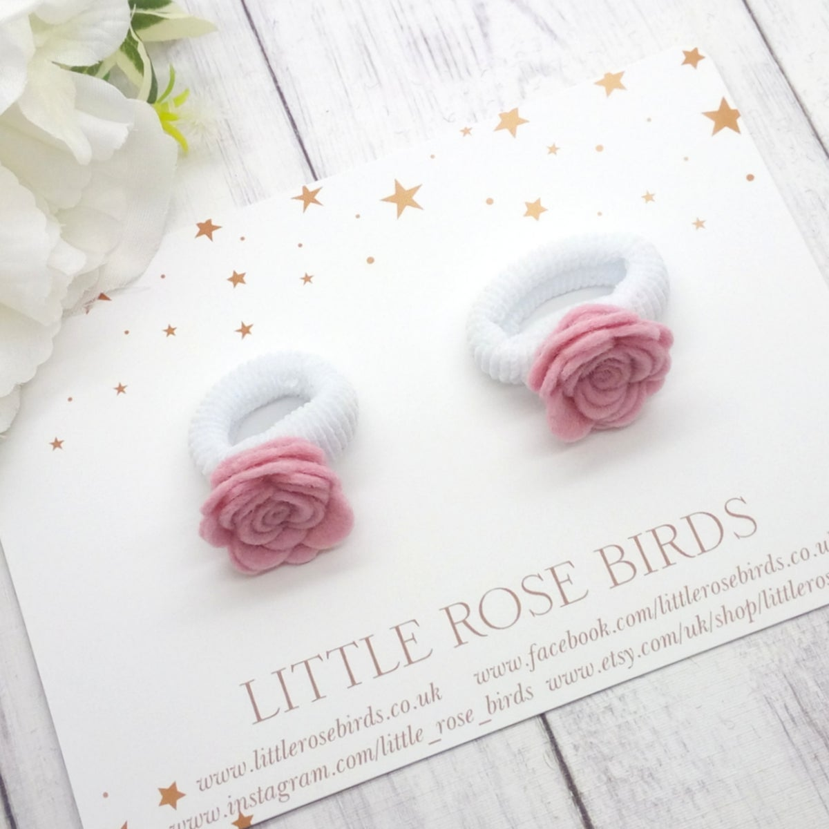 Image of CHOOSE YOUR COLOUR - SET OF 2 My First Bobble Rose Pigtail Bows - Choice of 52 Colours