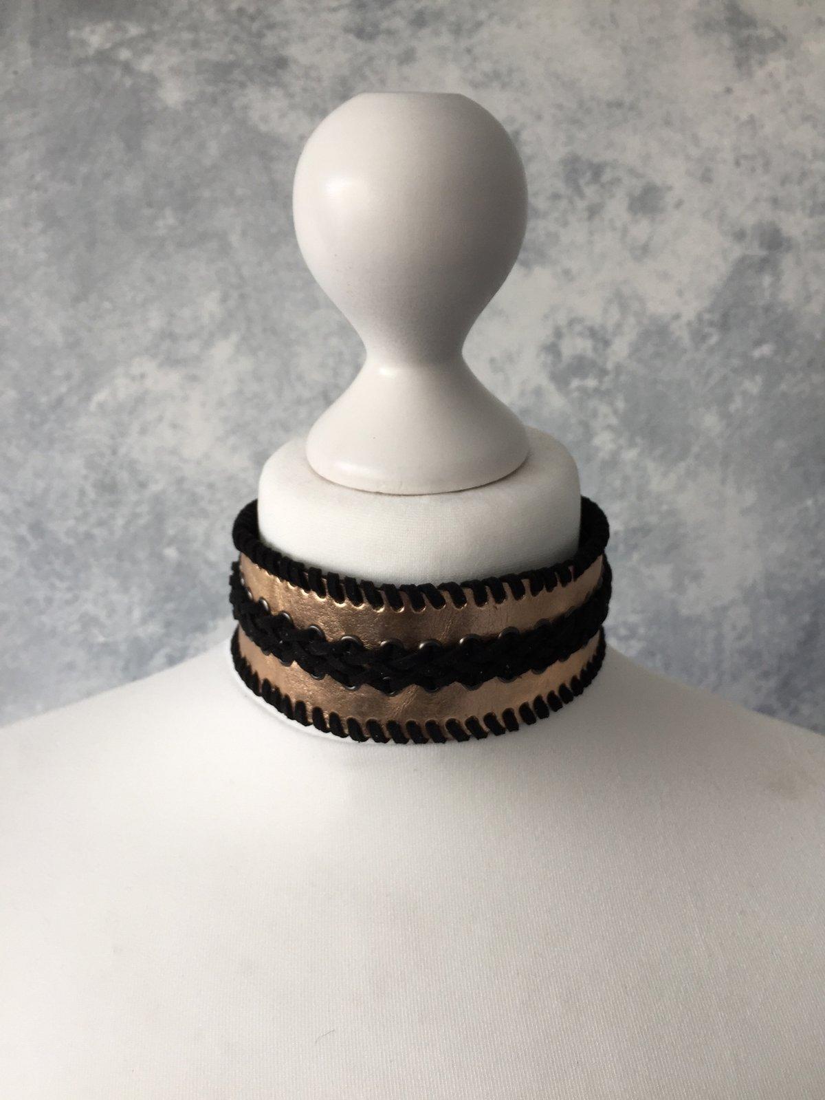 Image of Rose Gold & Black collar
