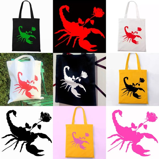 Image of SCORPION ROSE TOTE BAG