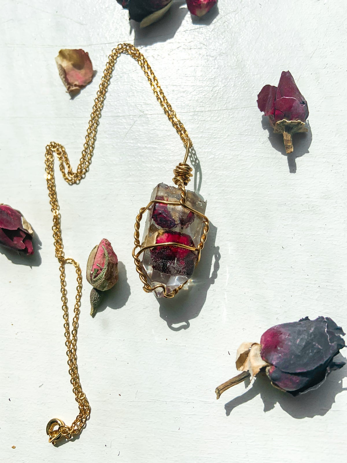 Rose of Life resin crystal