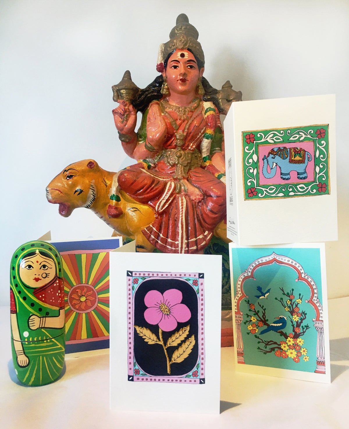 Flower India Card