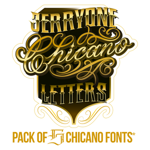Image of Pack of 5 Chicano Fonts
