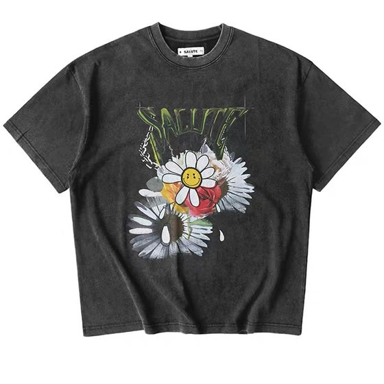 Image of Salute 2020ss FLOWER ANARCHY  Tee