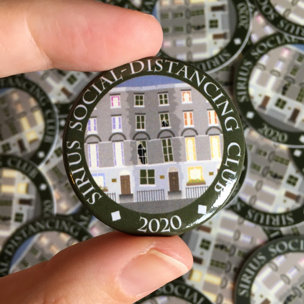 Image of Sirius Social-Distancing Club Button