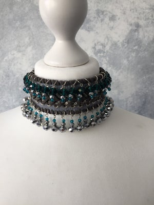 Image of Double crystal bead collar