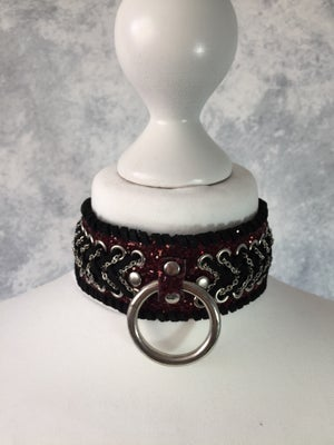 Image of Red Glitter o-ring collar
