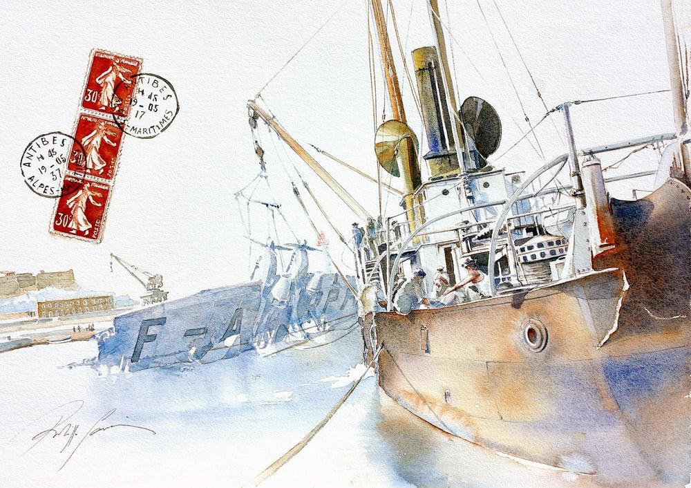Image of Atlantique 1 - Renflouement - Antibes 1937 - Antibes
