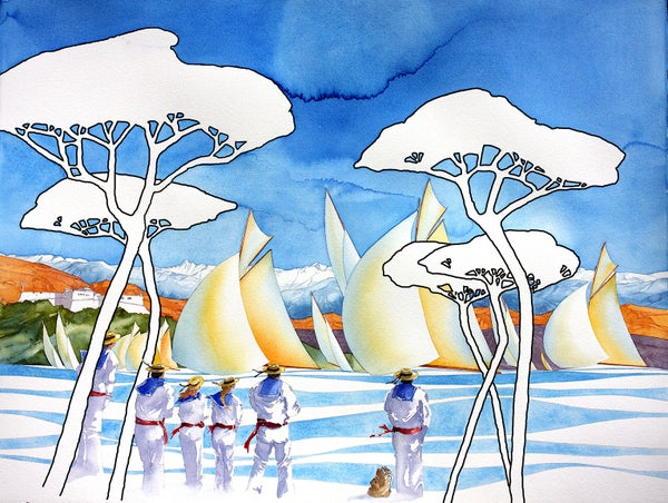 Image of Affiche Voiles d'Antibes 2016