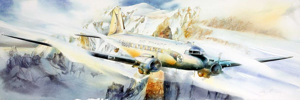 Image of DC3 au dessus du Mont-Blanc
