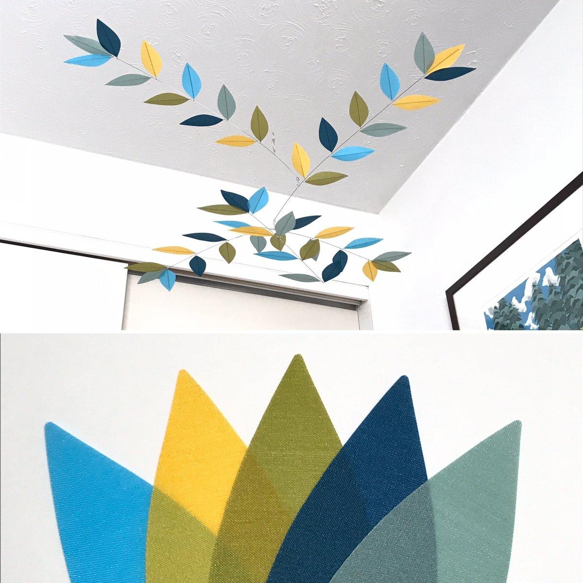 Image of NURSERY SIZE - CUSTOM COLOR Stylized Leaf Mobile