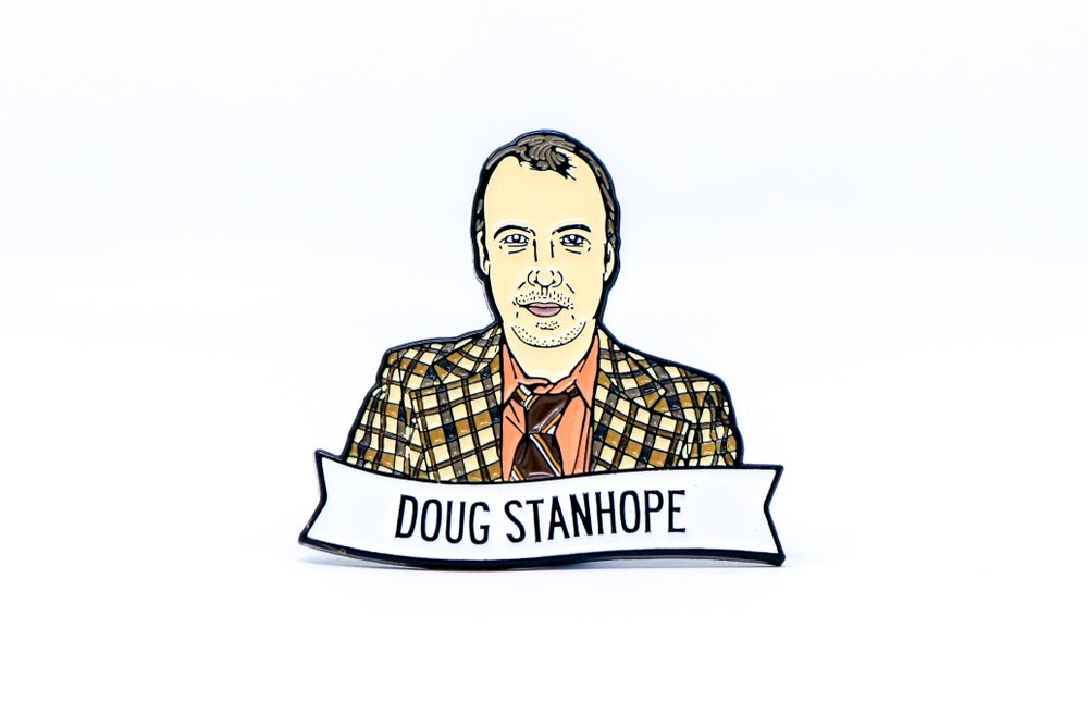 Image of Doug Stanhope Enamel Pin