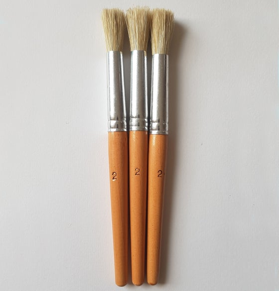 Image of Multi Pack Stencil Brushes - size 2