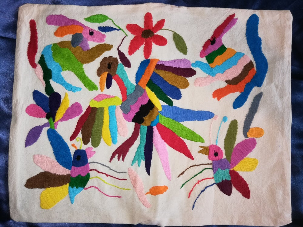 Image of Otomi embroidered pillow cases