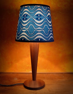 "Wave 8"" Lampshade - Blue"