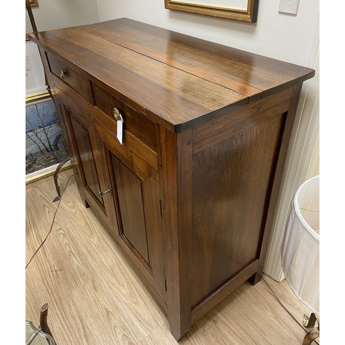 Image of 19th Century French Walnut Two Door Buffet