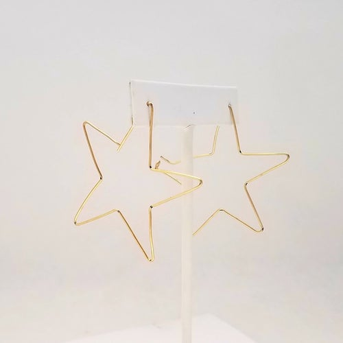 Image of Minimalist star earrings