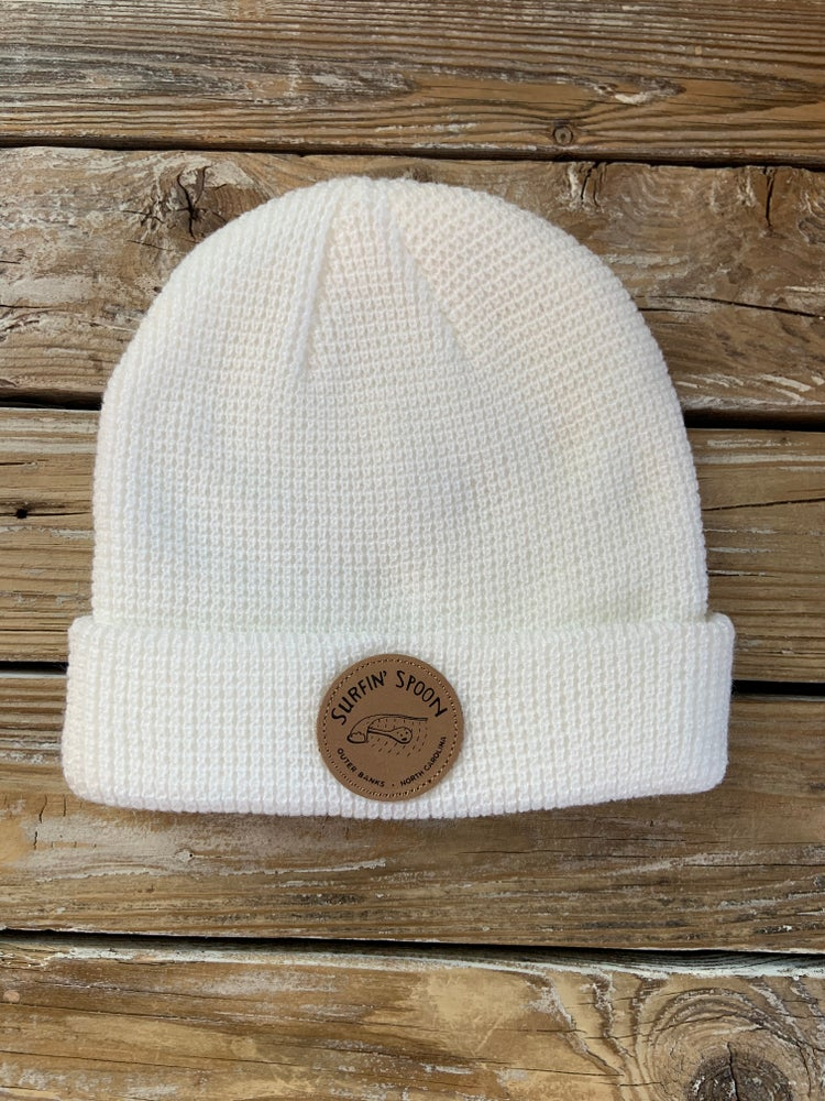 Image of Surfin Spoon Beanie - White