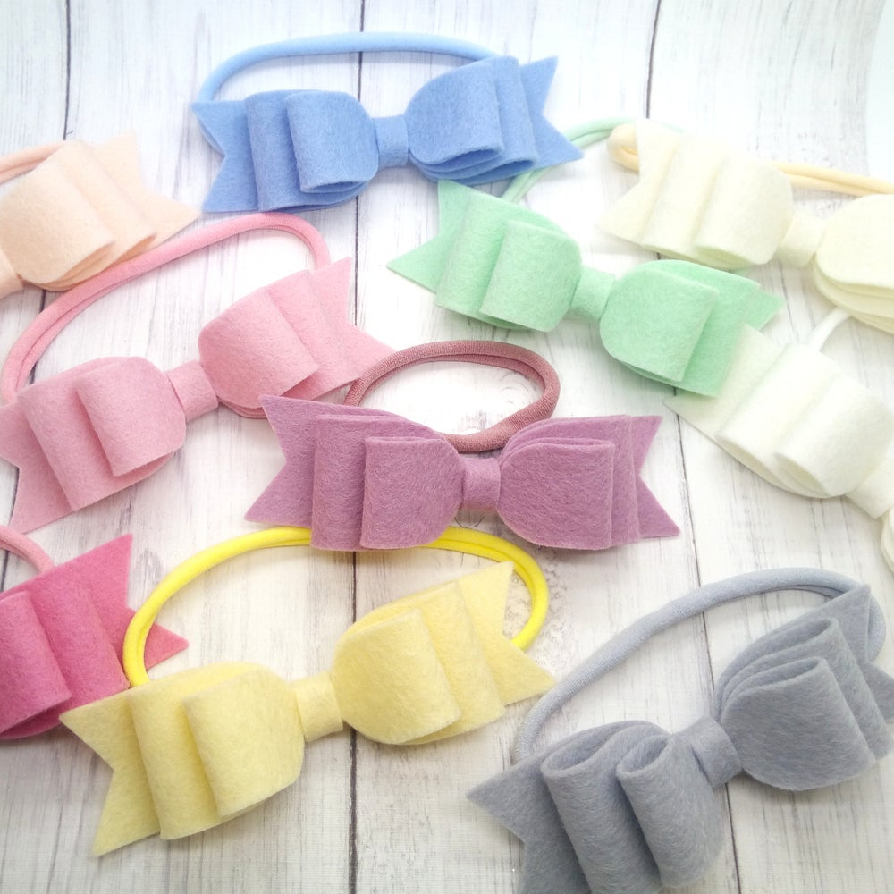 Image of CHOOSE YOUR COLOUR - Large Double Loop Bow on Headband or Clip