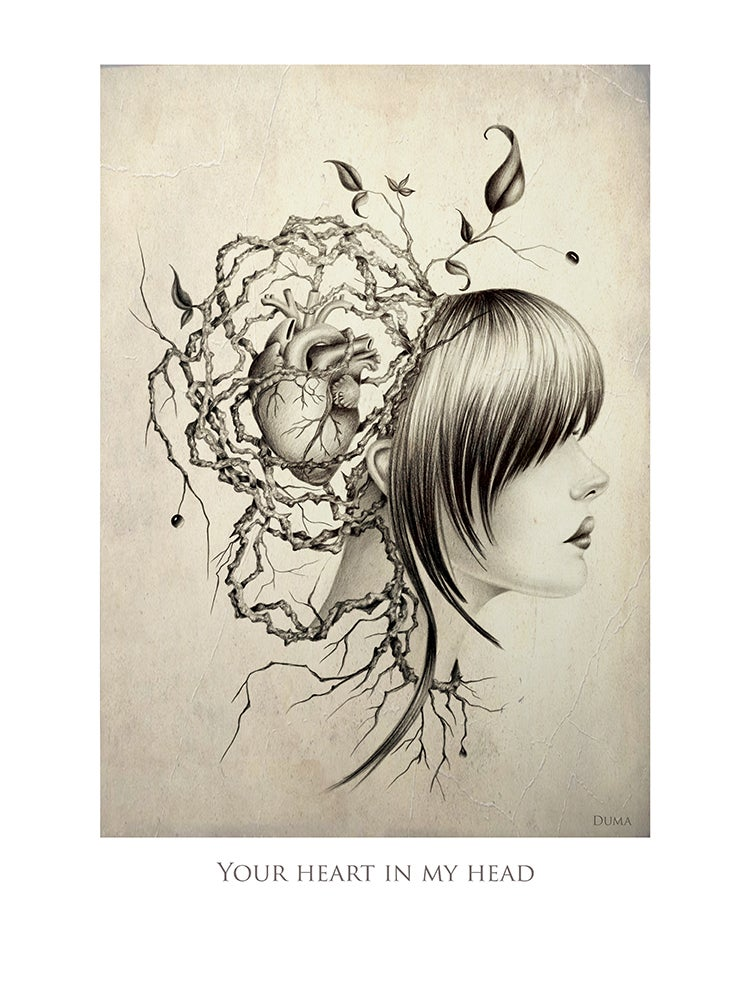 Image of Your heart in my head 40 x 30 cm