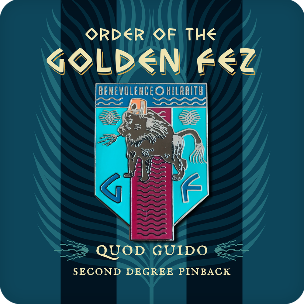 Image of Order of the Golden Fez Quod Guido 2nd Degree Enameled Pin