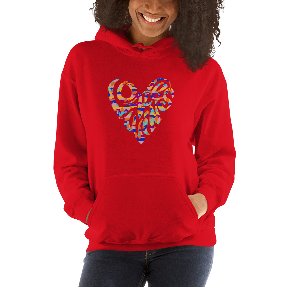 Image of LOVE WINS EMBLEM HOODIE - RED