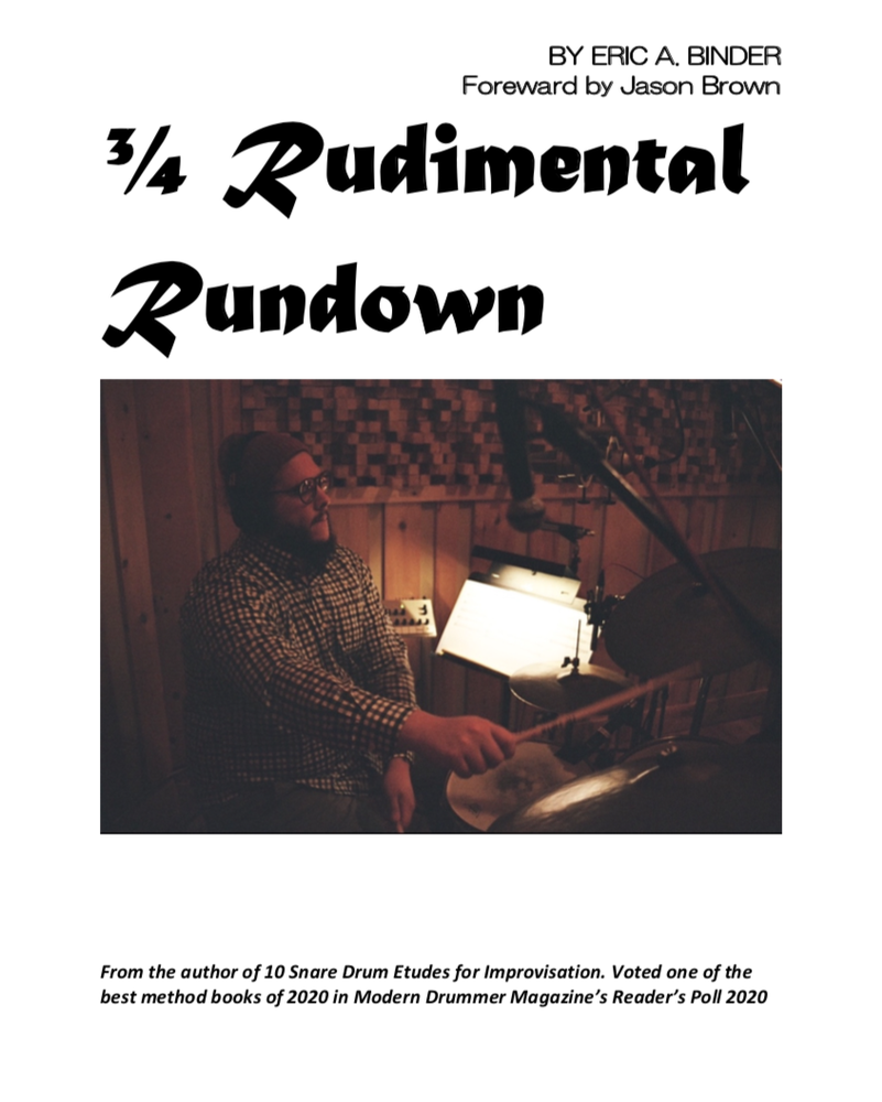 Image of 3/4 Rudimental Rundown PDF