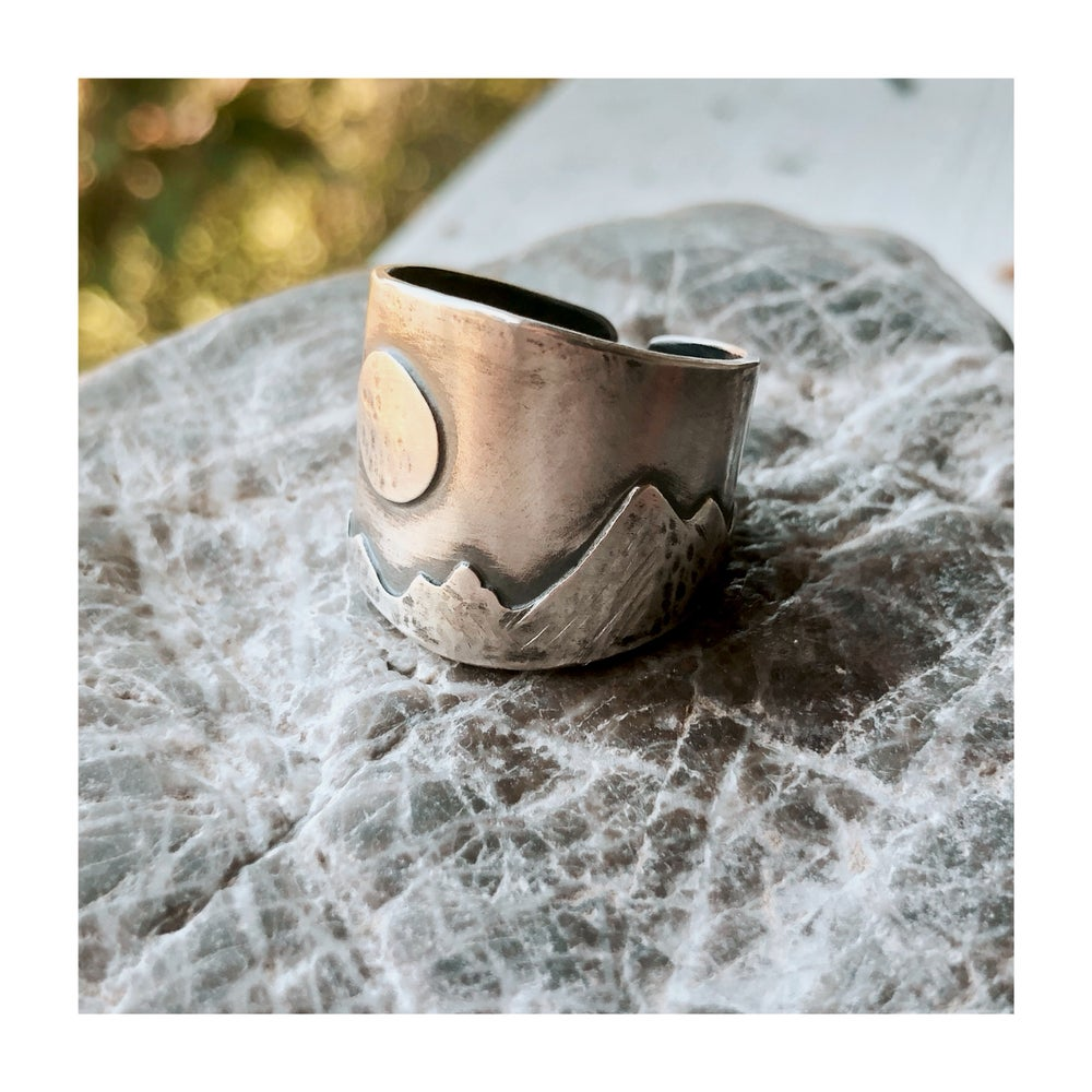 Image of Moon On the Range Cuff Ring
