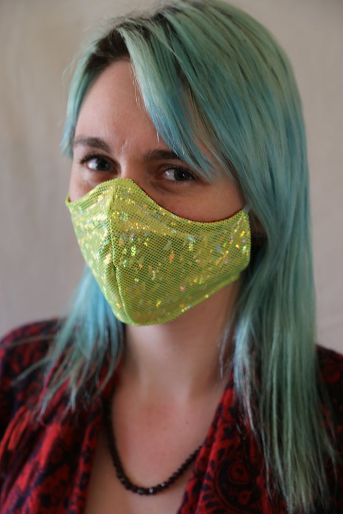Image of Starshine Locally Made Spandex/Cotton Mask