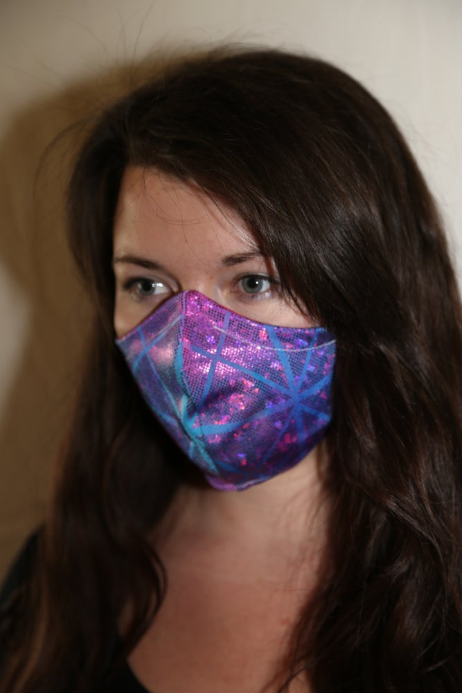 Image of Northern Lights Locally Made Spandex/Cotton Mask