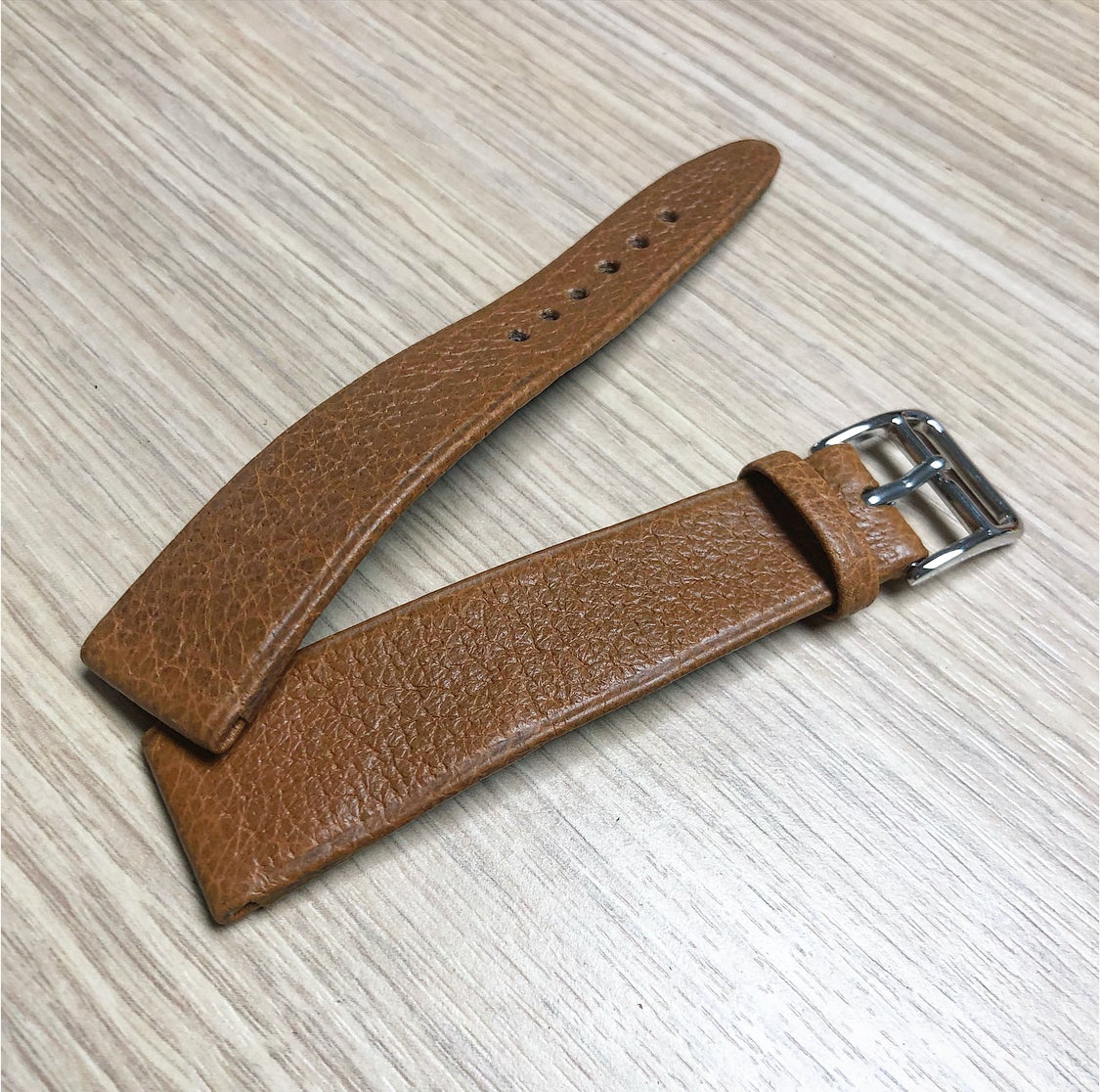 Image of Hand-rolled vintage Pigskin rembordé watch strap