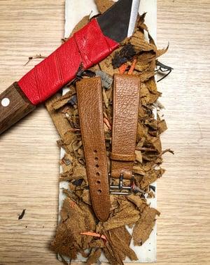 Image of Hand-rolled vintage strap - Tan Pigskin