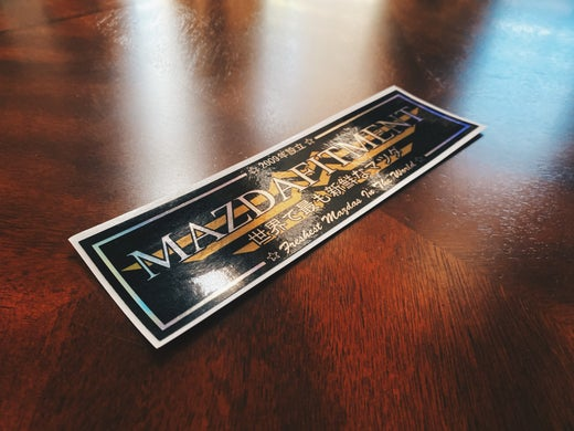 MAZDA FITMENT CLUB STICKER - SPECIAL HOLOGRAPHIC VER.