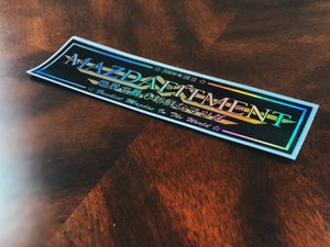 Image of Mazda Fitment Club Sticker - SPECIAL HOLOGRAPHIC VER.